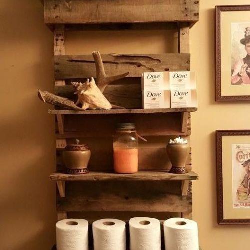 25+ Best Ideas About Pallet Shelf Bathroom On Pinterest