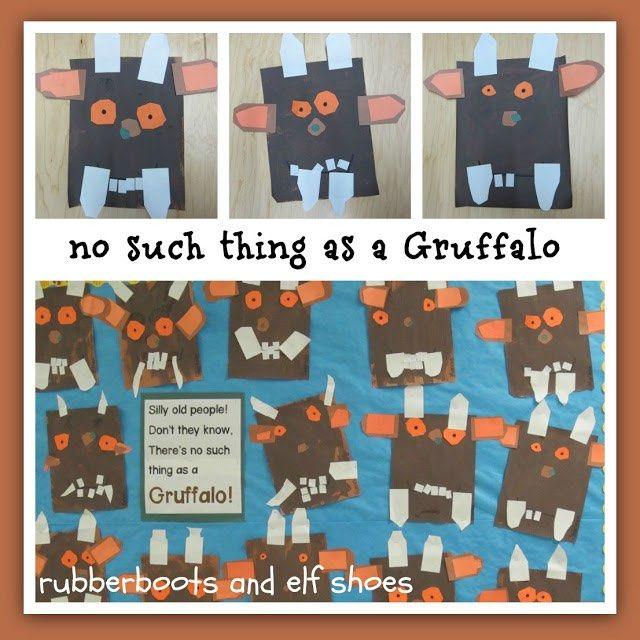 activities for kindergarten children after reading The Gruffalo by Julia Donaldson