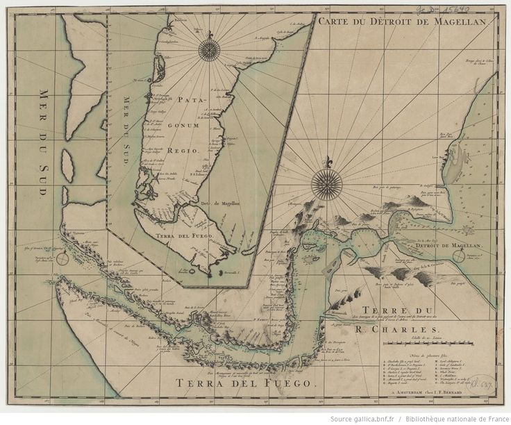 Carte du Detroit de Magellan | Gallica