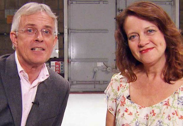 "Philip Bretherton and Moira Brooker, hosts of ""Behind The Britcom: From Script To Screen."" plus an interview with Bob Larbey http://atgbcentral.com/rlarbey.html"