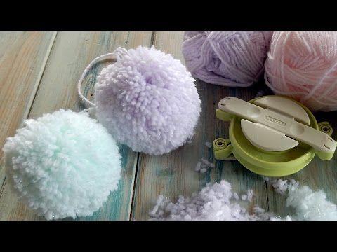 The Secret to a Fluffy Pom Pom - Clover Pom Pom Maker - YouTube