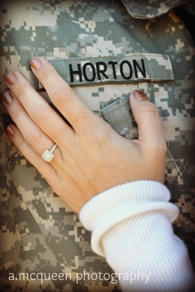 again with the adorable military engagement pics ahhhhh so cute