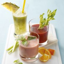 Aardbei-bananen cocktail