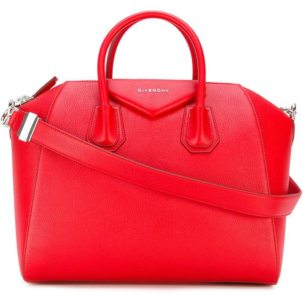 Givenchy - medium Antigona tote bag - women - Goat Skin - One Size (£1,960) ❤ liked on Polyvore featuring bags, handbags, tote bags, red, red tote handbag, tote bag purse, givenchy handbags, red tote and tote purses