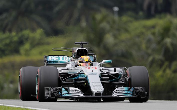 Download wallpapers Lewis Hamilton, 4k, British racer, Formula 1, Four-time world champion, Mercedes AMG Petronas F1 Team, Mercedes-AMG F1 W08