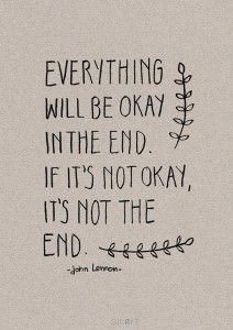 Handlettering - everything will be ok -