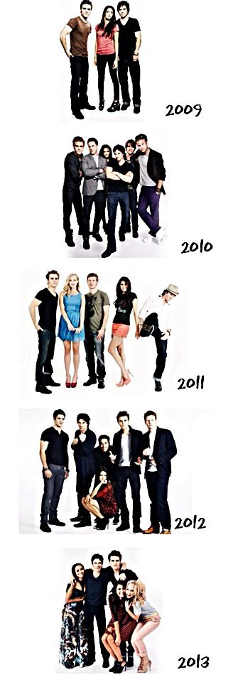 The Vampire Diaries cast through the years