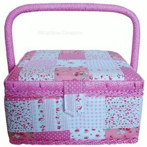 Sewing Basket For Children - pretty patchwork design