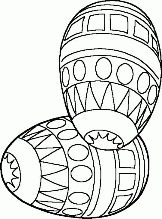 Two Easter eggs to color - Free Printable Coloring Pages
