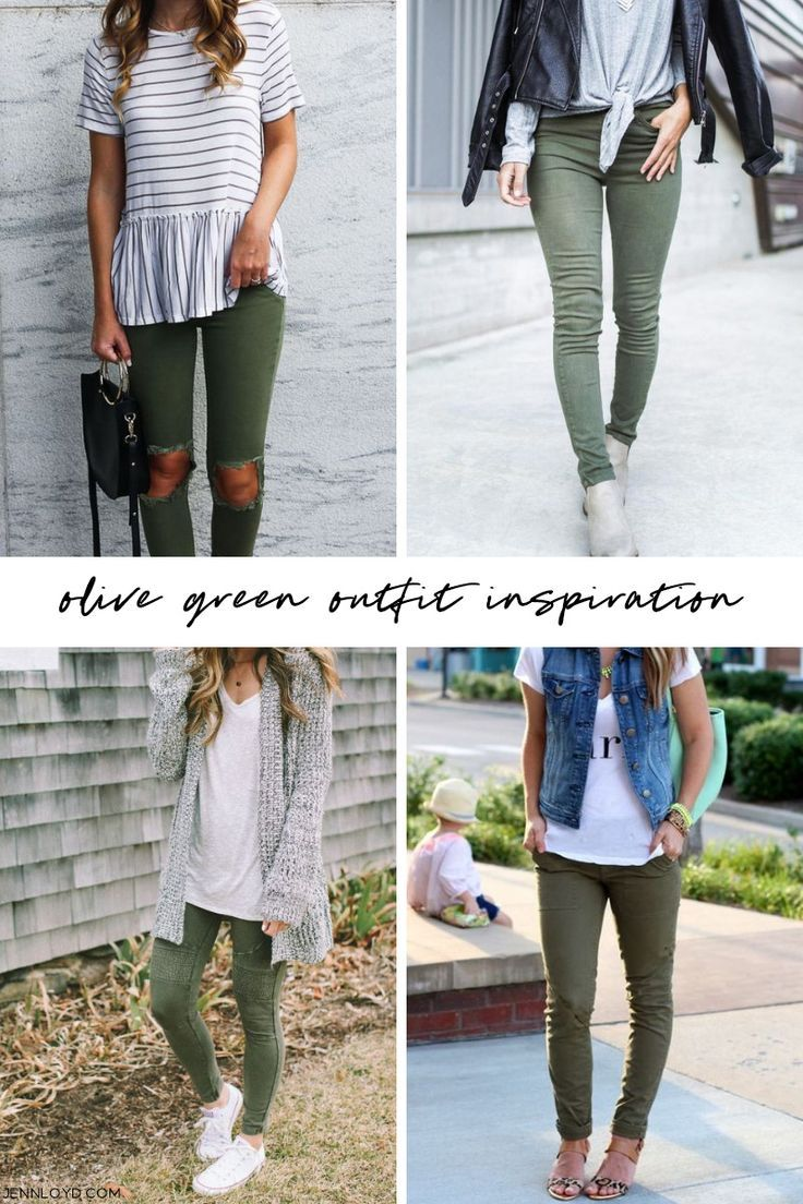 Olive Green Outfit Inspiration Look Calca Verde Militar