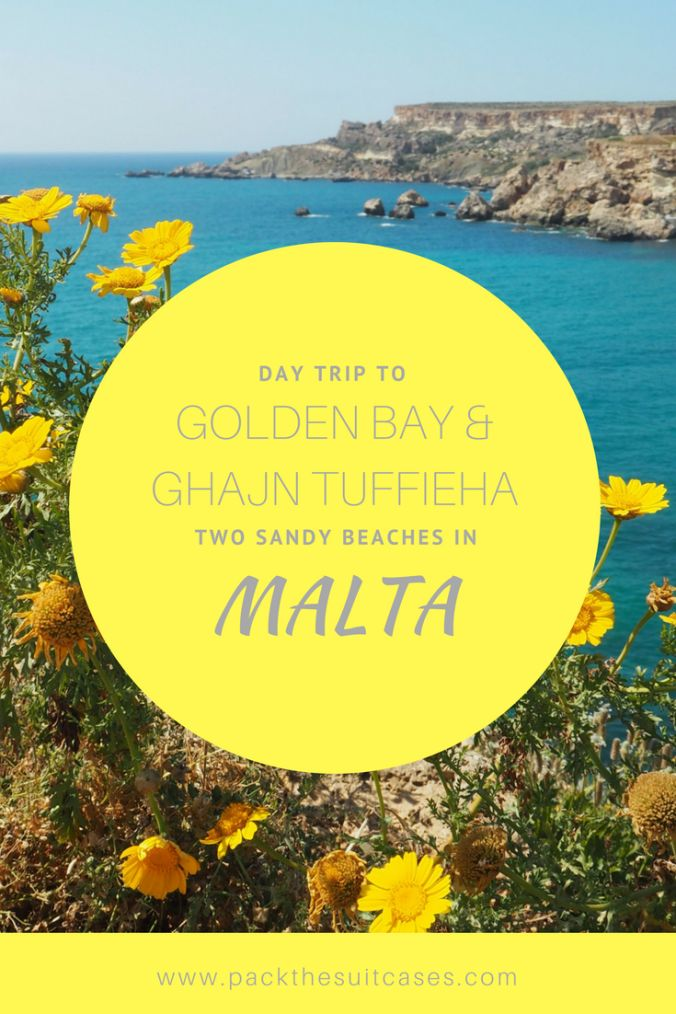 Day trip to two sandy beaches in Malta: Golden Bay and Ghaj Tuffieha | PACK THE SUITCASES