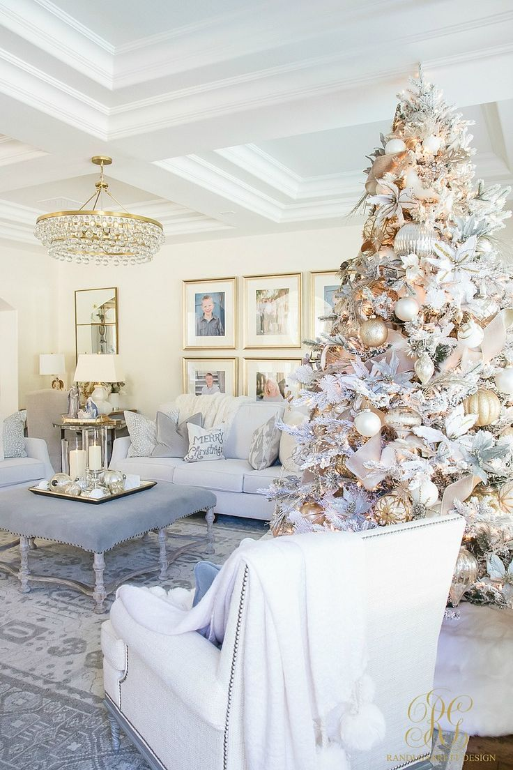 Christmas Home Tour 2017 Silver And Gold Christmas In 2020 With Images Gold Christmas Decorations Christmas Home Elegant Christmas Decor