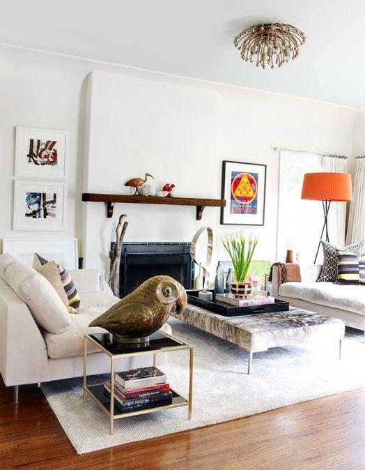 animals: Decor, Lamps, Living Design, Living Rooms, Big Birds, Interiors Design, White Colors, Families Rooms, Fitzroy Boutiques
