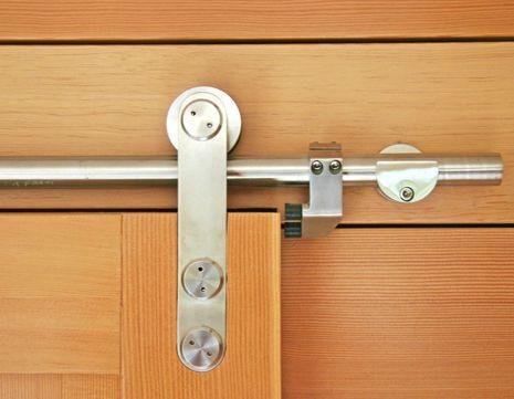 Barn Door Hardware Detail Seen Used In Glass Doors In