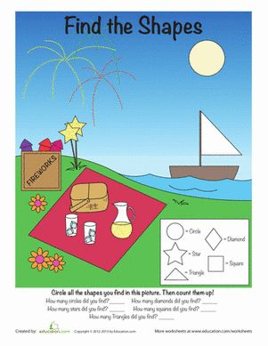 Shapes preschool worksheets