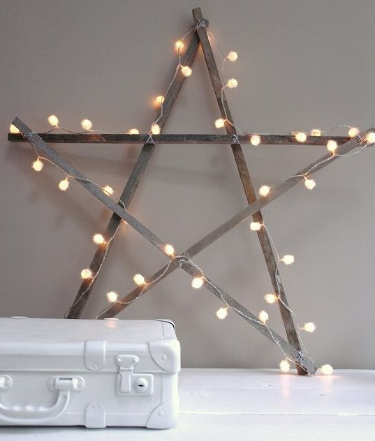 Make this Shabby star light tutorial and 45 BEST Shabby Lifestyle Decor & Accessory DIY Tutorials EVER!!  From MrsPollyRogers.com