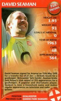 2004 Top Trumps Specials Arsenal #NNO5 David Seaman Front