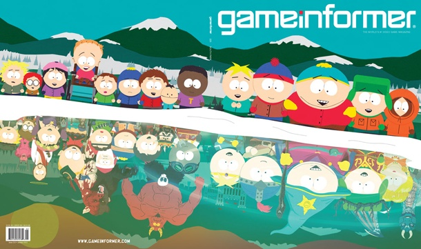 South Park: The Game - I can't wait for this.  Full scale RPG by Obsidian the developers of Fallout: New Vegas.   (cover page from gameinformer.com)