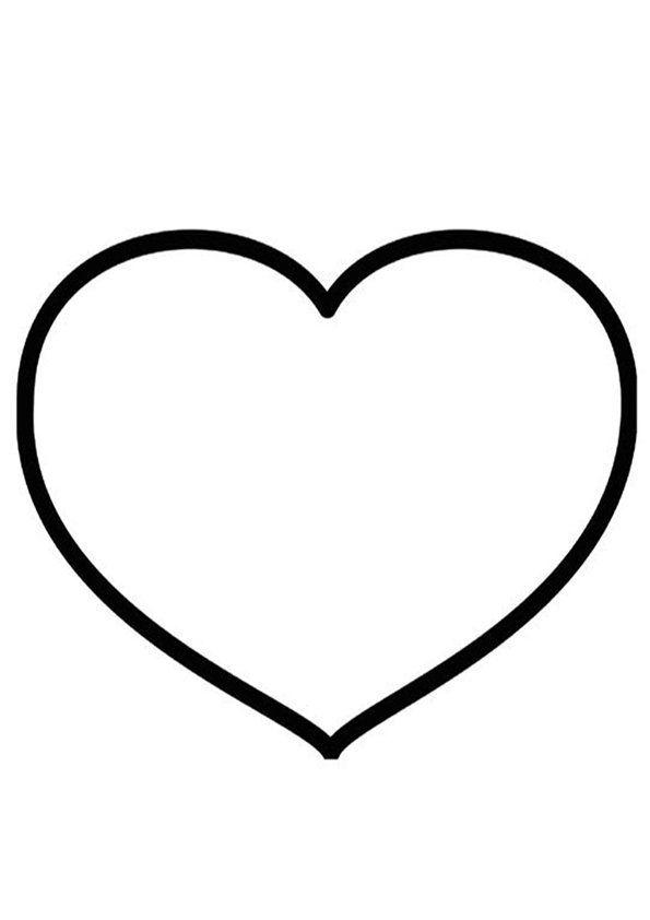 Good Modele De Coeur A Imprimer Gratuit Dessins Pinterest