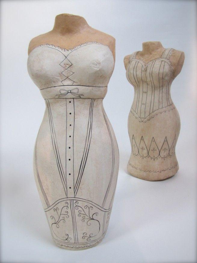 Paper Mache Art Dress Form Fashion Mannequins