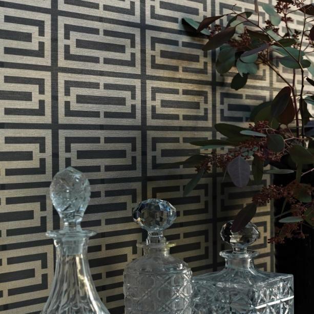 Winylowa zmywalna tapeta do hotelu pensjonatu mieszkania w geometryczne klasyczne wzory