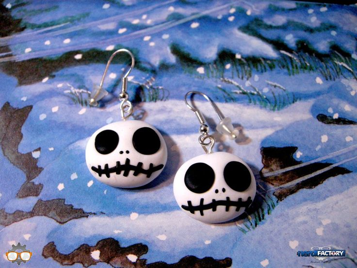Jack Skeletron earrings hand-made!