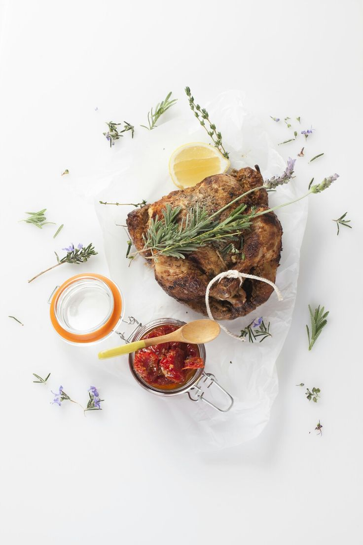 Roast Chicken with Lavender and confit Tomatoes - Spier Wine Farm