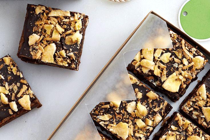 Dark and Delicious Banana Coconut Brownies