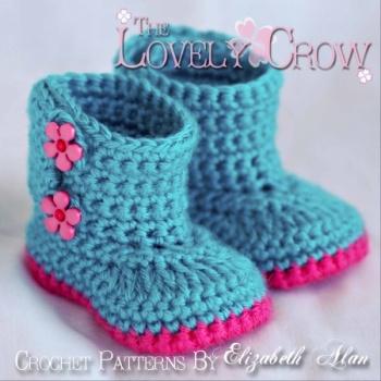 Crochet pattern baby boots Baby Garden Boots