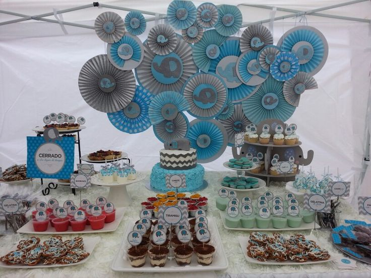 Mesa de postres baby shower mis creaciones pinterest for Mesa de postres baby shower