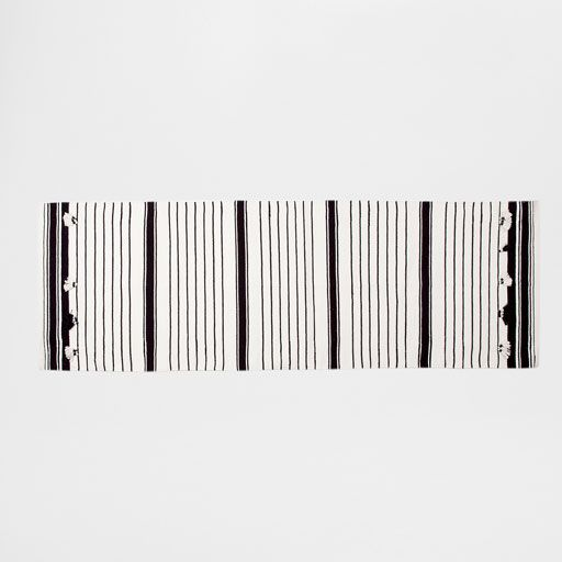 Image of the product Black and white striped rug
