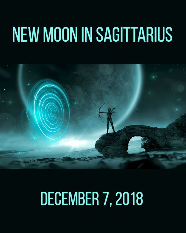 eeda0117f New Moon in Sagittarius, December 7, 2018, activates the energy of seeking.  Mercury retrograde turns direct! Read the full daily horoscope at www.