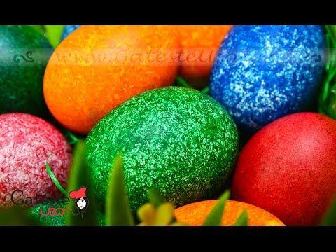 Oua vopsite de Pasti. CEA MAI RAPIDA METODA GARANTAT. How to dye Easter eggs? - YouTube