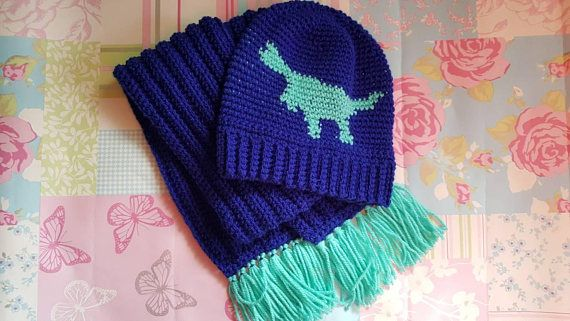 Check out this item in my Etsy shop https://www.etsy.com/uk/listing/547375326/dinosaur-hat-dinosaur-hat-scarf-kids-hat
