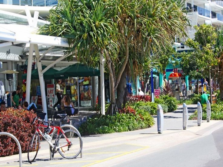 Mooloolaba, across the road from the beach..