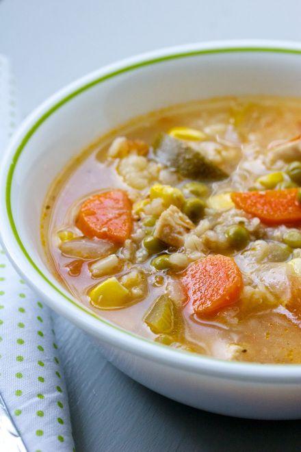 chicken, veggie & rice soup