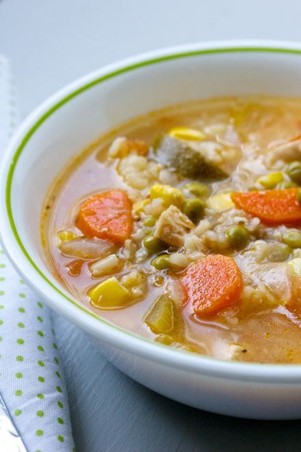 chicken, veggie & rice soup