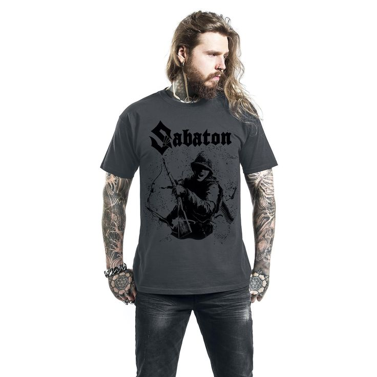 "Classica T-Shirt uomo grigia ""Chose Not To Surrender"" dei #Sabaton."
