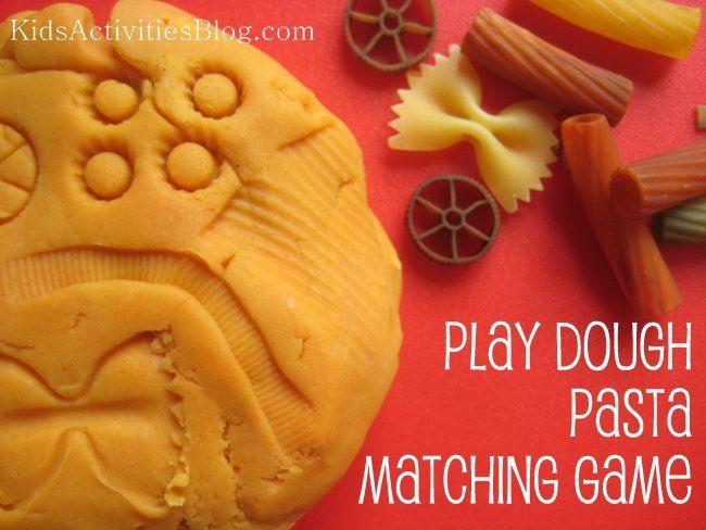 Playdough Pasta Matching Game