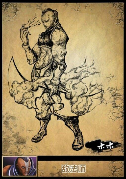 DOTA2 character sketch 3.