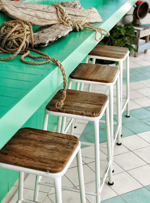 chairs and bar color. love.