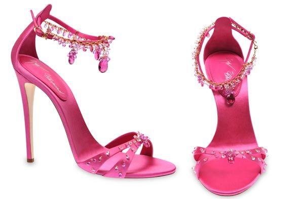 """""""Give a girl the right shoes, and she can conquer the world.""""  ― Marilyn Monroe: Giuseppezanotti, Chopard, Design Giuseppe, Giuseppe Zanotti, Italian Shoes, Sandals, High Heels, Guisepp Zanotti, Pink Diamonds"""