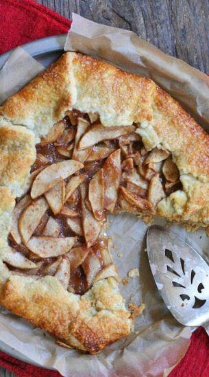 Easy apple galette recipe.
