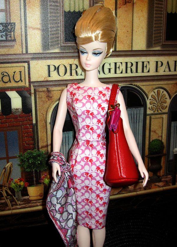 Coach sheath & Scarf for Silkstone Barbie Dolls Special design