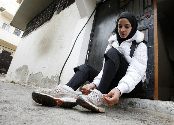 Runner Worood Maslaha from Nablus, Palestine.