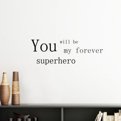 Superhero Father's Day Festival Quote Silhouette  Removable Wall Sticker Art Decals Mural DIY Wallpaper for Room Decal #Wallsticker #Superhero #Wallpaper #Happy #Decoration #Father #Walldecor #Day #Homedecor #Festival #Stickers #Quote #Poster #DIY #Decorationsforhome #Wallart