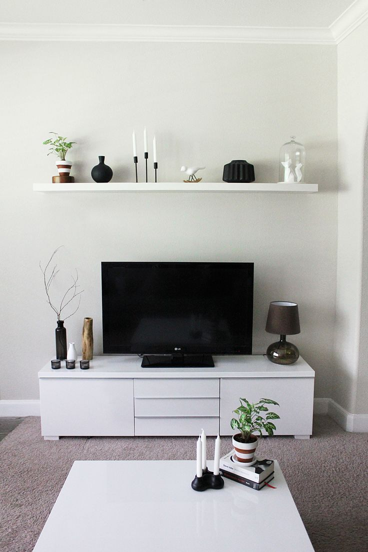 Minimalist TV Stand And Cabinet IKEA Besta . Since I Think Weu0027ll Never Get  The TV Out Of The Living Room, Might As Well Have A Pretty Stand To Go With  It