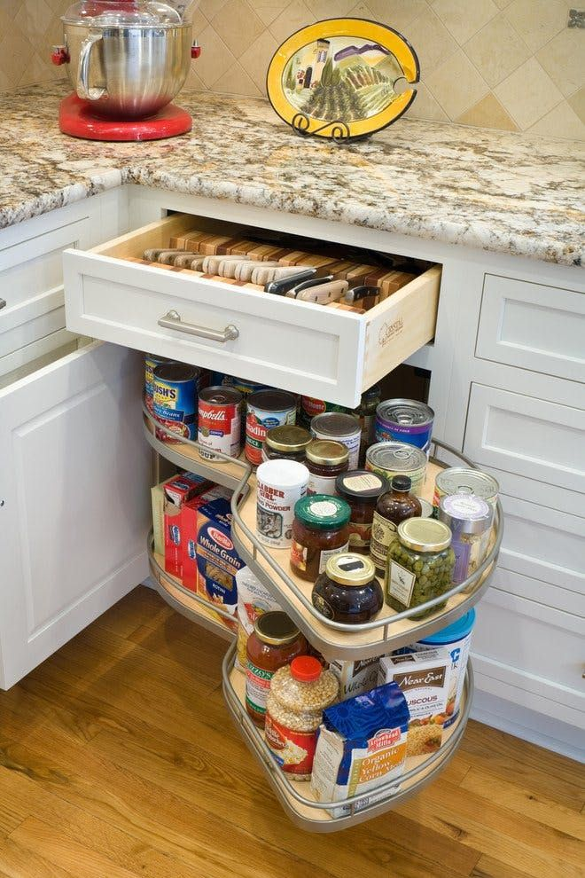 Corner cabinets have to be one of the trickiest areas in a kitchen to figure out