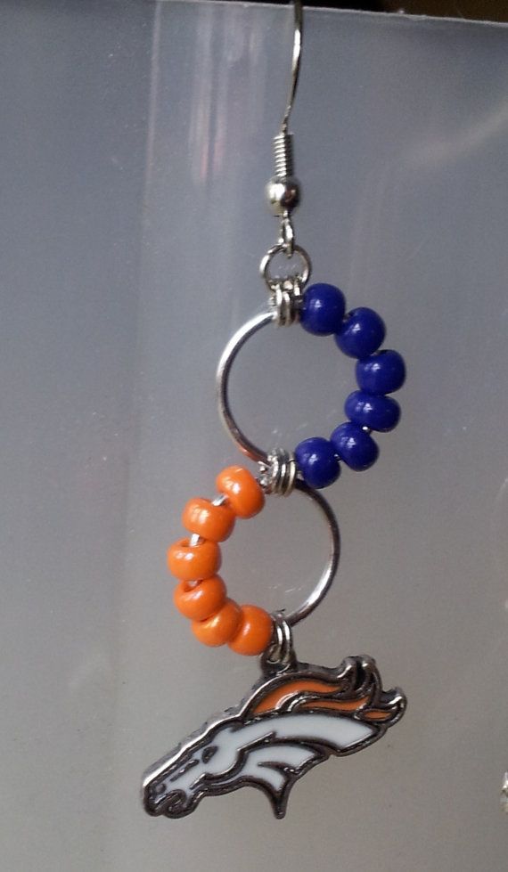 Broncos Earrings in Chain Mail by CraftingFever on Etsy ...