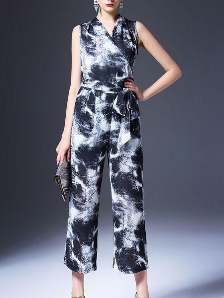 Printed Cotton-blend Jumpsuit